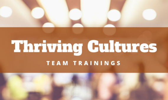 Thriving Cultures – Team Trainings