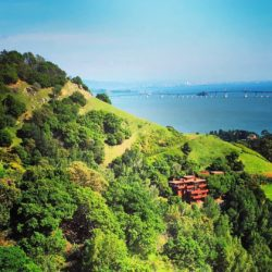 0 House from Hillside w View of Bay